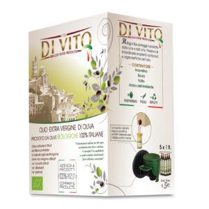 Di Vito Food Olio Extra Vergine di Oliva Biologico - Bag in Box 5 lt