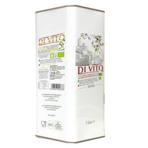 Di Vito Food Olio Extra Vergine di Oliva Biologico - Latta 5 lt