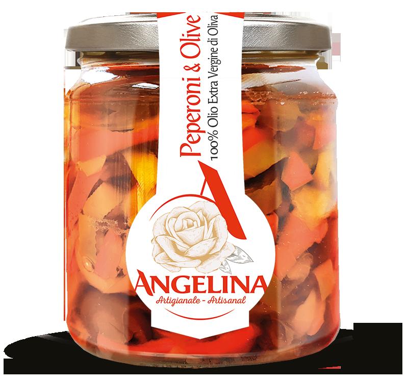 angelina peperoni e olive in olio evo