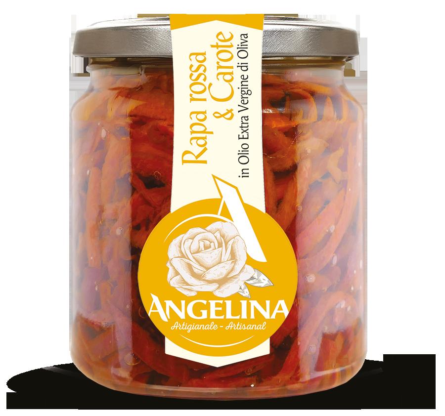 angelina rapa rossa e carote in olio evo