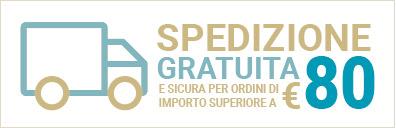 spedizione gratuita per ordini oltre gli 80 euro